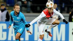 Le Monégasque Dimitar Berbatov s'est offert une magnifique occasion contre le Zenit Saint-Pétersbourg.