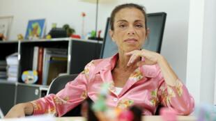 Agnès Saal, alors présidente de l'INA, le 31 juillet 2014.