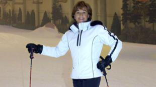 La fallecida medallista española Blanca Fernández Ochoa en una fotografía tomada el primero de agosto de 2003 en el Parque de la Nieve del complejo de ocio Xanadú, en Madrid, España.