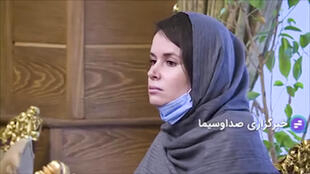 An image grab from footage obtained from Iranian state television on November 25, 2020 shows Australian-British academic Kylie Moore-Gilbert, who was serving a 10-year prison sentence for spying, during her release in Iran.