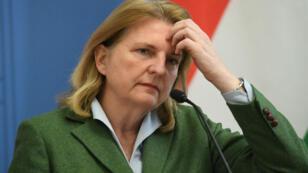La ministre des Affaires étrangères autrichienne Karin Kneissel, en mars 2018.