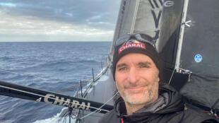Le navigateur français Jérémie Beyou lors du Vendée Globe, le 22 décembre 2020