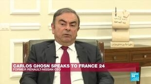 "2020-01-09 20:14 ""I was scared to stay in Japan"", says Carlos Ghosn on France 24"