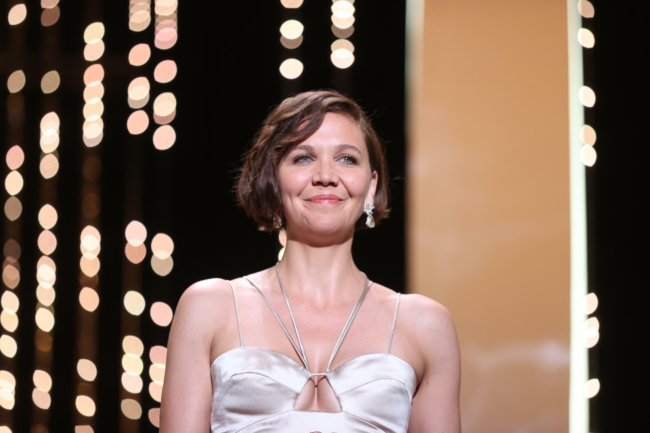 American actress Maggie Gyllenhaal, July 17, 2021 in Cannes