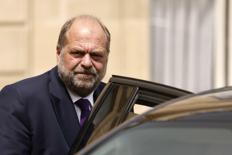 Le ministre de la Justice Eric Dupond-Moretti quitte le palais de l'Elysée à Paris 7 juillet 2021