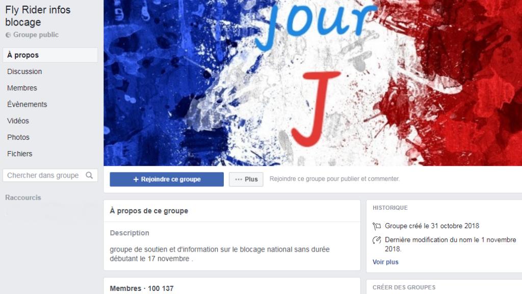 """Le page du groupe Facebook """"Fly Rider infos blocage"""" réunit plus de 100 000 membres."""