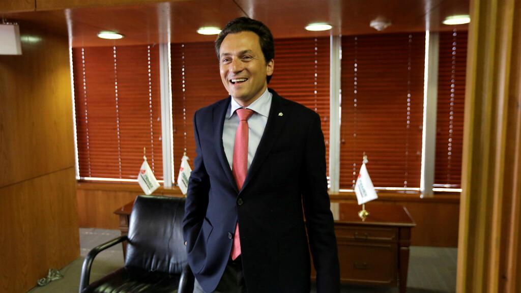 Emilio Lozoya durante una entrevista el 18 de diciembre de 2014, cuando todavía era director ejecutivo de Pemex.
