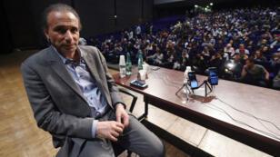 Tariq Ramadan le 26 mars 2016 lors d'une conférence à Bordeaux.