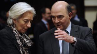 La directrice du FMI et le ministre français des Finances