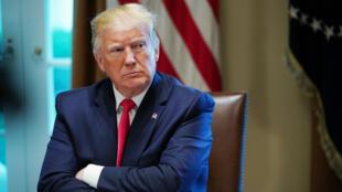 Le président américain, Donald Trump, lors d'une réunion à la Maison Blanche, le 13juin2019.