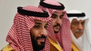 ولي العهد السعودي محمد بن سلمان خلال قمة مجموعة العشرين في اليابان، 29 يونيو/حزيران 2019.