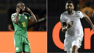 Sadio Mané et Riyad Mahrez, deux stars qui veulent soulever leur premier trophée continental.