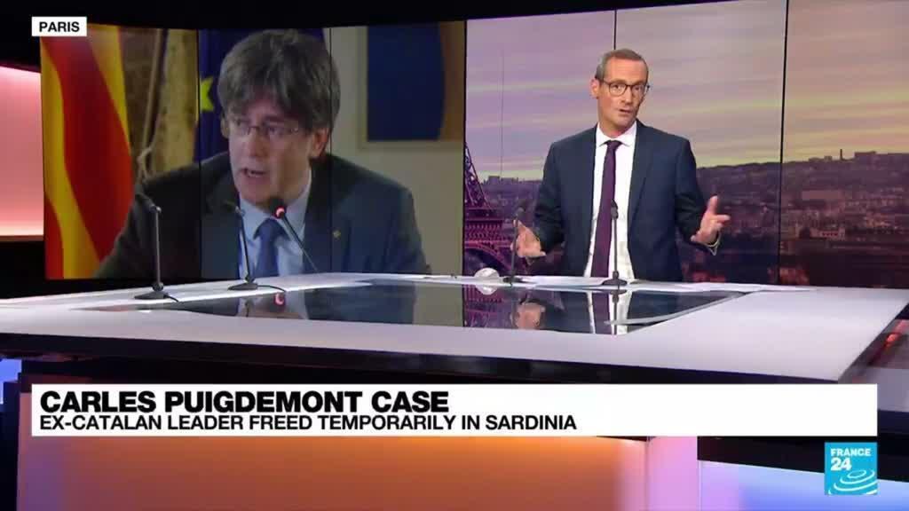 2021-10-05 09:42 Catalan ex-leader Puigdemont freed temporarily in Sardinia