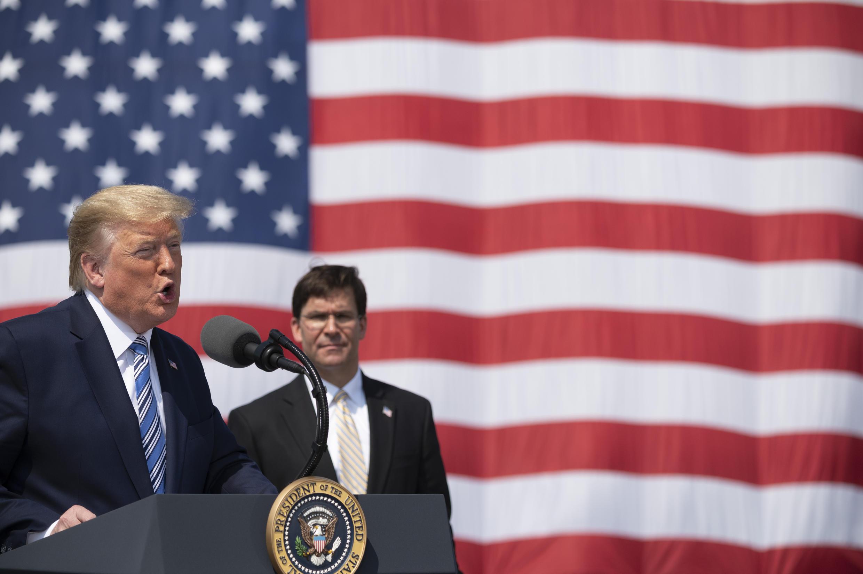 Le président américain Donald Trump lors d'une conférence en Virginie, le 28 mars 2020.