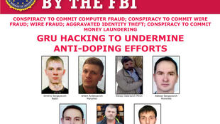 Avis de recherche émis par le FBI à Washington, le 4 octobre 2018.