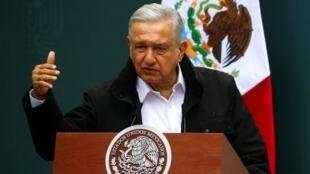 Andrés Manuel López Obrador, actual presidente mexicano y principal defensor de que se produzca el referendo, en una fotografía tomada en Ciudad de México, México, el 26 de septiembre de 2020.