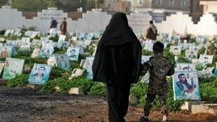 Children water plants and clean tombstones to support their families in war-torn Yemen