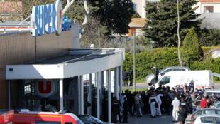 El incidente de Trèbes es el cuarto hecho que involucra rehenes dentro de los atentados terroristas llevados a cabo en Francia