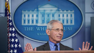 Dr Anthony Fauci, the director of the National Institute of Allergy and Infectious Diseases and a member of the White House coronavirus task force, speaks during a press conference in Washington, D.C. on April 13, 2020.