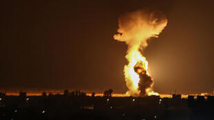 Israeli warplanes strike what the military says are Hamas targets in the city of Rafah in the southern Gaza Strip