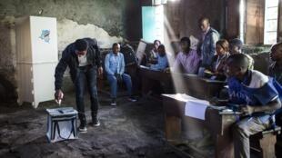 Un bureau de vote à Goma, le 30 décembre 2018.
