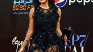 الممثلة رانيا يوسف في حفل ختام مهرجان القاهرة السينمائي في القاهرة في 29 تشرين الثاني/نوفمبر 2018