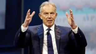 L'ancien Premier ministre britannique Tony Blair à Washington le 26 mars 2017