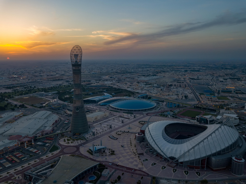 ملعب خليفة الدولي في الريان قبل كأس العالم 2022، قطر،  في15 يوليو/تموز 2020