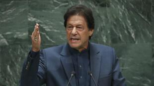 Le Premier ministre pakistanais, Imran Khan, lors de la 74eAssemblée générale de l'ONU, le 27septembre2019.