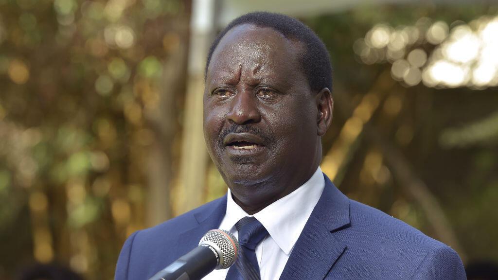 Le leader de l'opposition kényane, Raila Odinga, devant la presse le 31 octobre 2017.