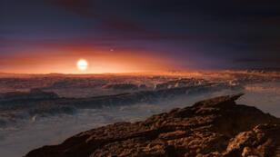 Une vue d'artiste de la surface de Proxima Centauri b.