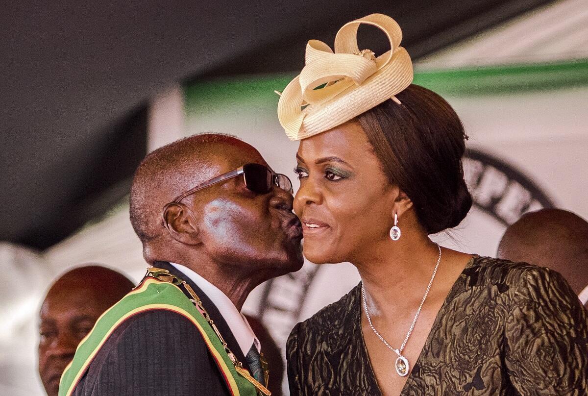 Le couple Mugabe, le 18 avril 2017.