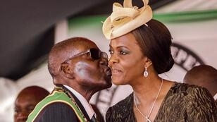 Le couple Mugabe, le 18 avril 2017.