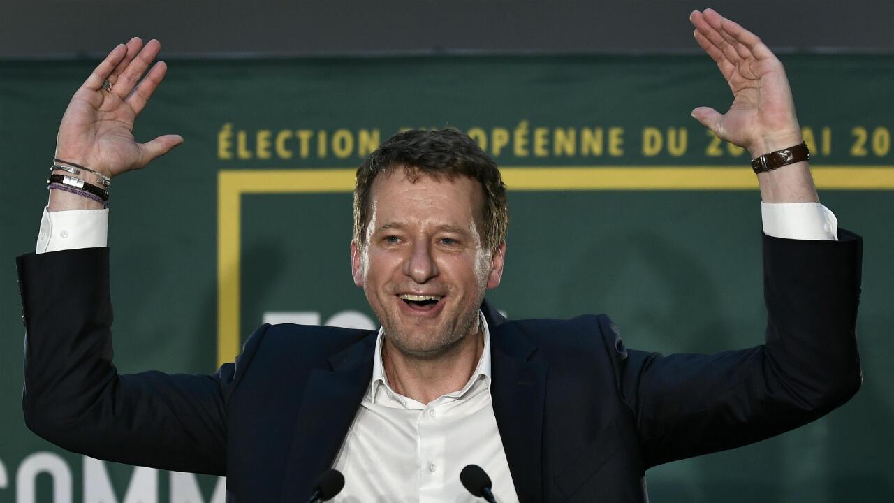 Yannick Jadot, dimanche 26 mai 2019, après les résultats des élections européennes.