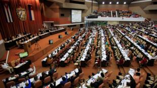 Vista general de una sesión de la Asamblea Nacional en La Habana, Cuba, el 21 de diciembre de 2018.