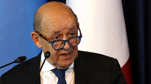 "French Foreign Minister Jean-Yves Le Drian (pictured July 17, 2020) slammed China's treatment of ethnic and religious minorities in the country as ""unacceptable"" and said Paris condemns the actions"
