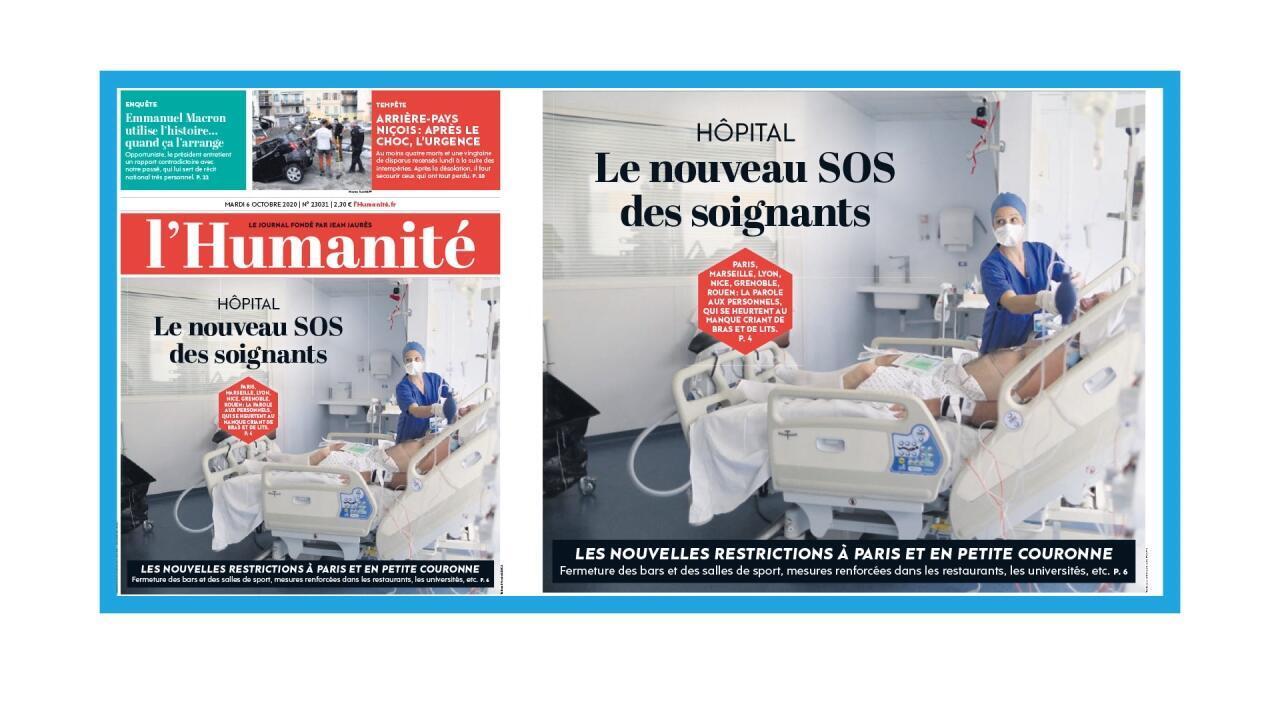 Les personnels hospitaliers français confrontés à la deuxième vague épidémique