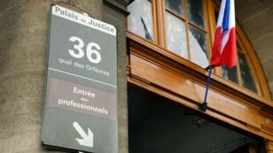 L'entrée de l'ancien siège de la police judiciaire au 36 quai des Orfèvres à Paris.