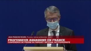 2020-10-21 15:02 REPLAY - Assassinat de Samuel Paty : conférence de presse du Parquet national antiterroriste
