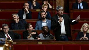 Le député Éric Coquerel, ici photographié le 7 mai 2019 en séance avec le groupe de La France insoumise, a reçu vendredi 14 juin la coalition d'opposition ivoirien pro-Gbagbo à l'Assemblée nationale.