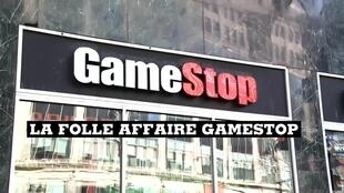 Les magasins GameStop, au centre d'une bataille entre petits boursicoteurs et grands fonds d'investissement américains.