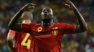 مهاجم منتخب بلجيكا روميلو لوكاكو.