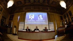 Le comité Nobel a attribué le prix de physique au Japonais Takaaki Kajita et au Canadien Arthur McDonald.