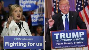 Hillary Clinton et Donald Trump ont remporté une majorité des 12 États américains qui votaient pour les primaires démocrates et républicaines.