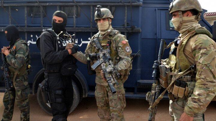 القوات الخاصة التونسية خلال عملية أمنية في بن قردان، في أيار/مايو 2016.