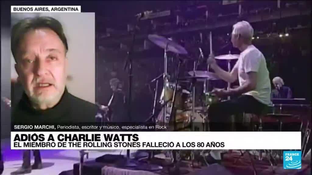 """2021-08-25 03:09 Sergio Marchi: """"Charlie Watts era el líder silencioso de los Rolling Stones"""""""