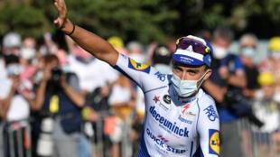 Julian Alaphilippe (Deceuninck) perdío la camiseta amarillo después de la 5a étapa del Tour de Francia, a Privas, el 2 de septiembre de 2020