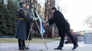 Le Premier ministre grec AlexisTsipras s'est rendu à Moscou mercredi 8 avril 2015.
