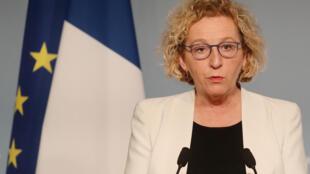La ministre du Travail, Muriel Pénicaud, le 1er avril 2020 à l'Elysée à Paris