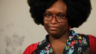La porte-parole du gouvernement Sibeth Ndiaye donne une conférence de presse après le Conseil des ministres, le 1er avril 2019 à Paris